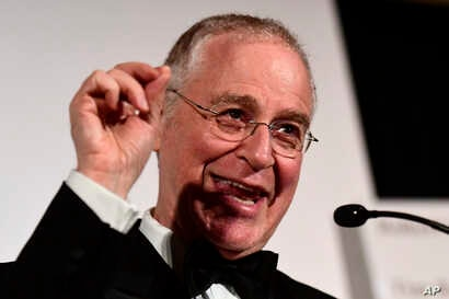 Historic biographer Ron Chernow speaks during the 39th Annual Common Wealth Awards at the Hotel du Pont on April 14, 2018, in Wilmington, Delware.