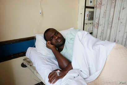 Activist Patson Dzamara was abducted and later released Friday. He says that is not going to deter and discourage him from fighting for a better Zimbabwe, Harare, Zimbabwe, Nov. 18, 2016. (S. Mhofu)