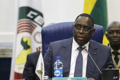 Senegal's President Macky Sall addresses the opening of the 48th ordinary session of ECOWAS Authority of Head of States and Government in Abuja, Nigeria  December 16, 2015.