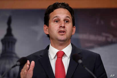 """FILE - Sen. Brian Schatz, D-Hawaii, speaks during a news conference on Capitol Hill in Washington, May 24, 2017. Schatz said that """"there needs to be tough and quick accountability"""" for the false missile threat tweet sent Jan. 13, 2018."""