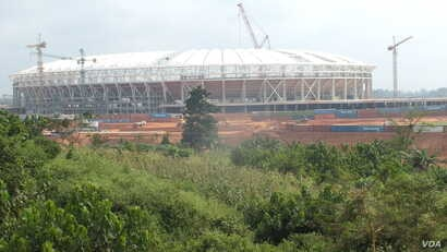 Olembe stadium on the outskirts of Cameroon's capital, Yaounde, Dec. 1, 2018.