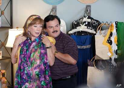 """Shirley MacLaine and Jack Black in a scene from """"Bernie"""" (Photo courtesy Millenium Entertainment)"""