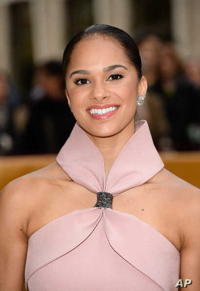 FILE - Dancer Misty Copeland attends the American Ballet Theatre's 75th Anniversary Diamond Jubilee Spring Gala at Metropolitan Opera House.