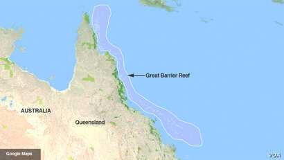 Map of the Great Barrier Reef