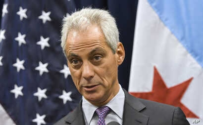 FILE- In this Jan. 15, 2017, photo Chicago Mayor Rahm Emanuel speaks during a news conference in Chicago.