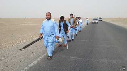 About 400 kilometers into the march, the group grew from eight to 59 men. By this week the march had grown to about 200.