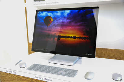 Surface Studio and Surface Dial are announced during Microsoft's October Event at Spring Studios, Oct. 26, 2016, in New York.