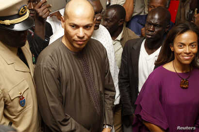 FILE - Karim Wade is seen in Dakar in a February 26, 2012, photo.