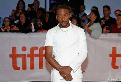 Actor Algee Smith arrives for the world premiere of The Hate U Give at the Toronto International Film Festival (TIFF) in Toronto, Canada, Sept. 7, 2018.