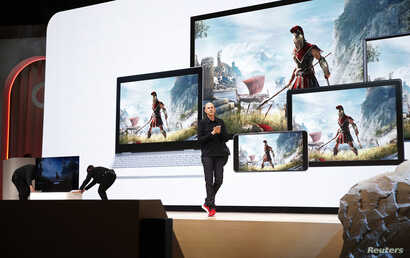 Google vice president and general manager Phil Harrison speaks during a Google keynote address announcing a new video gaming streaming service named Stadia at the Gaming Developers Conference in San Francisco, California, U.S., March 19, 2019.