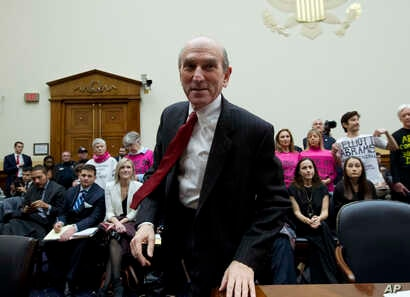 U.S. Special Representative for Venezuela Elliott Abrams arrives to testify before the House Foreign Affairs subcommittee hearing on Venezuela on Capitol Hill in Washington, Feb. 13, 2019.