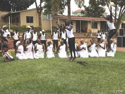 Dance troupes from South Sudan's regions of Bahr el Ghazal, Upper Nile and Equatoria participate in the Cultural Gala at the St. Lawrence University in Kampala that the South Sudanese Students' Union organized to foster peaceful coexistence among S...