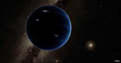 An artists rendition of the still unseen Planet Nine that lives beyond Neptune. Courtesy NASA
