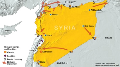 Syria Refugees Flee Areas of Conflict