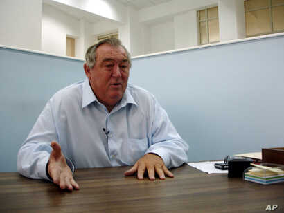 Conservationist Richard Leakey during an interview at his Nairobi, Kenya office, Aug. 10, 2007.