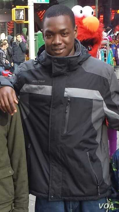 A photo of Mouctar Diallo, taken by a friend.