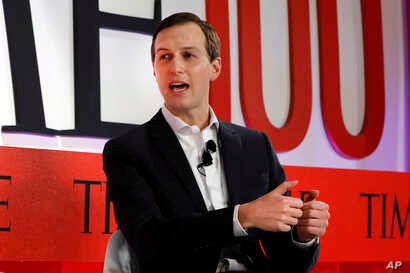 Jared Kushner, senior adviser to President Donald Trump, speaks during the TIME 100 Summit, in New York, Apr. 23, 2019.