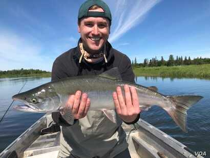 Mikah Meyer went fishing for salmon on the Alagnak Wild River, a national park in Alaska. (M.Meyer)