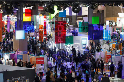 Visitors attend Viva Tech, a gathering of high-profile startups and high-tech leaders, May 16-18, 2019, in Paris.
