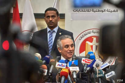 Officials have called for public participation in the three-day vote which begins Friday in Egypt, April 17, 2019.