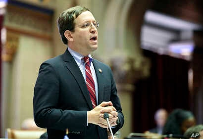 David Buchwald, D-Westchester, speaks to members of the New York state Assembly in favor of legislation that authorizes state tax officials to release, if requested, individual New York state tax returns to Congress, May 22, 2019, in Albany, N.Y.