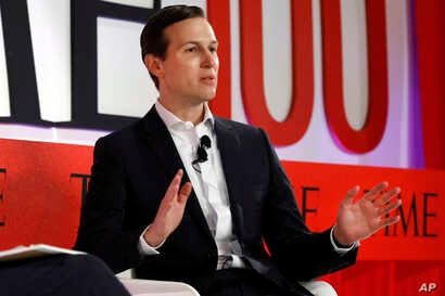 Jared Kushner, senior adviser to President Donald Trump, speaks during the TIME 100 Summit in New York, April 23, 2019.