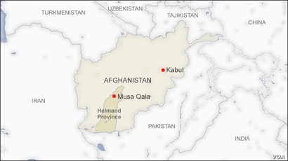 Map of Musa Qala, Helmand Province, Afghanistan
