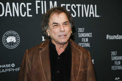 "Mickey Hart poses at the premiere of ""Long Strange Trip,"" a documentary about the Grateful Dead rock group, during the 2017 Sundance Film Festival, Jan. 23, 2017, in Park City, Utah."