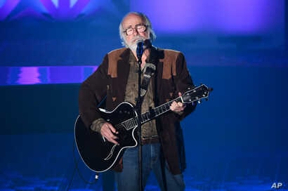 Honoree Robert Hunter performing at the 46th Annual Songwriters Hall Of Fame Induction and Awards Gala at the Marriott Marquis, June 18, 2015, in New York.