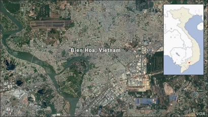 Map of Bien Hoa Vietnam