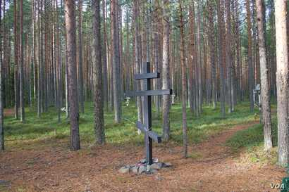 stalin purges - graves in Petrozavodsk in northwest Russia.