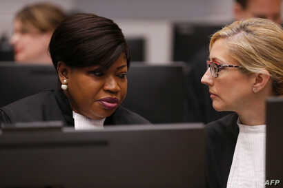 International Criminal Court's prosecutor Fatou Bensouda sits in the courtroom of the International Criminal Court (ICC) in The…