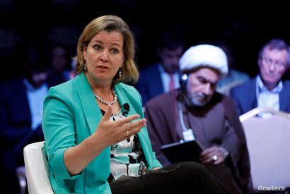 """Kelly Clements, UNHCR Deputy High Commissioner, participates in the """"Protecting Refugees: Our Moral Responsibility"""" session at…"""