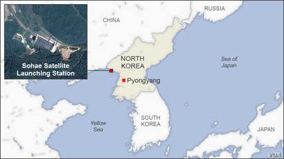 Map of Sohae Satellite Launching Station, North Korea