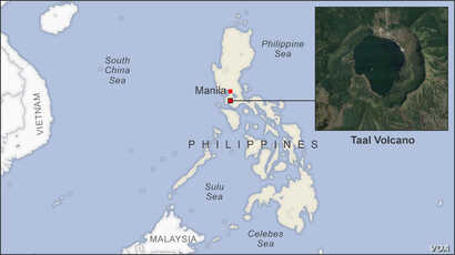 Map of Taal Volcano Philippines