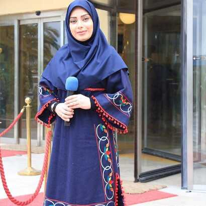 """Saba Fatemeh Rad, born in 1981 in Rasht, began her career as writer for radio at Gilan province and later became a TV director and producer. She was the main TV host of """"We Return Home"""" afternoon show for Channel 5 until her resignation in January 2020. Source: Social media."""