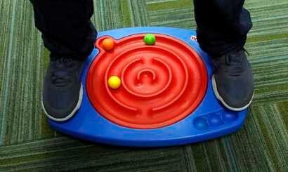 Toys like this double-maze board activity play system help develop motor skills, learning and concentration for all children.