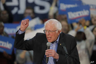 Democratic presidential candidate, Sen. Bernie Sanders, I-Vt., speaks at a campaign event in Myrtle Beach, S.C., Wednesday, Feb…