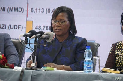 Malawi Electoral Commission Chair Jane Ansha has long been saying that the elections were not rigged and resisted calls to resign until the court verdict is passed. (Lameck Masina/VOA)