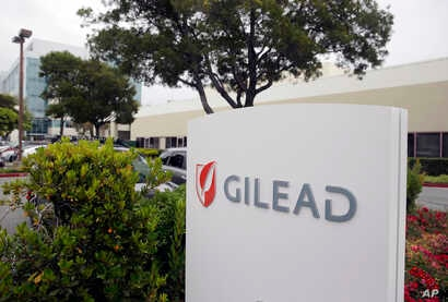 FILE - This July 9, 2015, file photo shows the headquarters of Gilead Sciences in Foster City, Calif. Federal health officials…