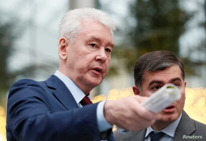 Mayor of Moscow Sergei Sobyanin visits the Dream Island amusement park ahead of its upcoming inauguration in Moscow, Russia…
