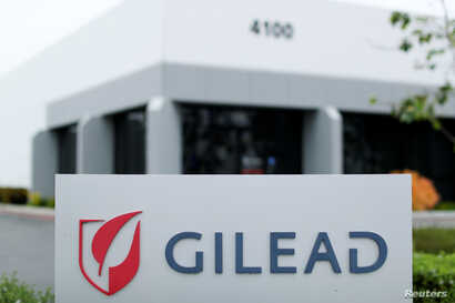 Gilead Sciences Inc pharmaceutical company is seen after they announced a Phase 3 Trial of the investigational antiviral drug…