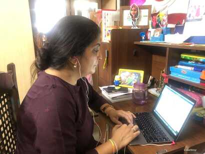 Apoorva Bapna, a New Delhi based professional, says office spaces generate energy that cannot completely be replaced by online connections.
