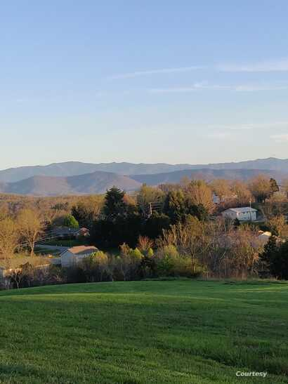 View of Smoky Mountains from Wilder's home in Dandridge, Tennessee.