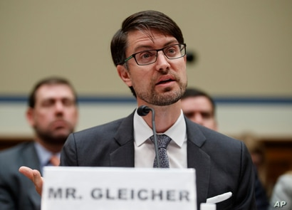 Facebook Head of Cybersecurity Policy Nathaniel Gleicher testifies on Capitol Hill in Washington, Wednesday, May 22, 2019,…