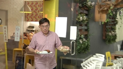 David Wong opened his bakery eight years ago, after leaving his father's property development company. (Dave Grunebaum/VOA)