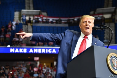 President Donald Trump speaks during a campaign rally at the BOK Center, in Tulsa, Oklahoma, June 20, 2020.