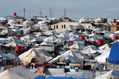 A general view of al-Hol displacement camp in Hasaka governorate, Syria, April 1, 2019. REUTERS/Ali Hashisho