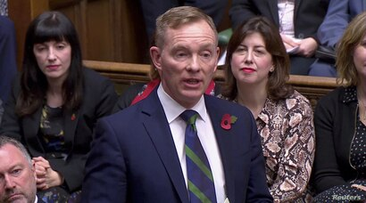 Labour MP Chris Bryant gives a speech during the election for the new Speaker of the House of Commons, in London, Britain…