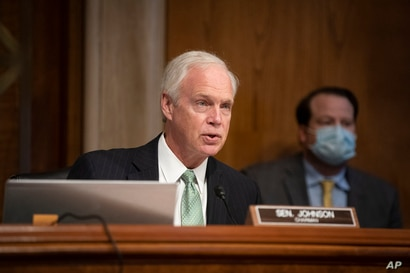 Committee Chairman Sen. Ron Johnson, R-Wis., speaks at a Senate Homeland Security and Governmental Affairs Committee hearing…